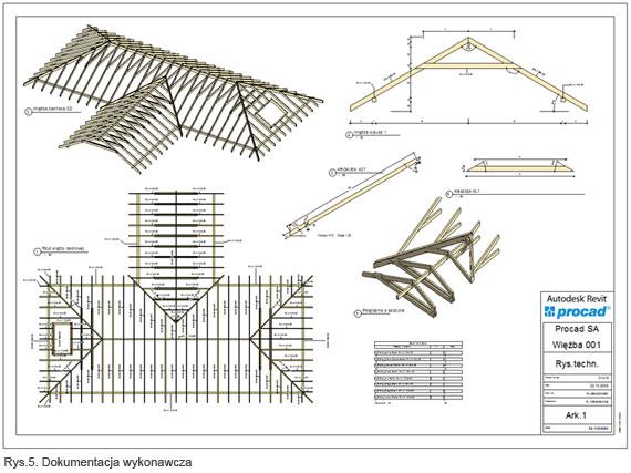 Rewelacyjny tools4revit: więźba dachowa - Biuletyn Revit 12/2008 - AEC - PROCAD SA LM77